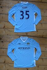 "Manchester CITY FOOTBALL SHIRT LARGE CALCIO JERSEY ""Kerr 35"" 2011/12 Man City"