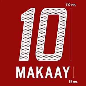Makaay 10. Bayern Munich Home football shirt 2003 2004 FLEX NAMESET NAME SET