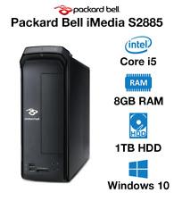 PACKARD BELL IMEDIA S2885 DESKTOP PC INTEL I5-4440 3.1GHz 8GB RAM 1TB HDD WIN 10