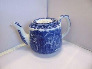 George Jones & Son 'Abbey' 1790 Teapot Blue and White Design