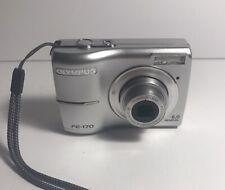 Olympus FE FE-170 6.0MP Digital Camera - Silver Tested & Working