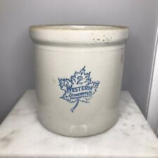 New listing Vtg Western Stoneware Co. Crock 2 Gal Monmouth, Ill