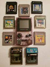 Nintendo Game Boy Color - Not Working + 9 Games! Mortal Kombat, Star Wars, more