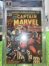 Captain Marvel 33 CGC 5.5 Rare Mark Jewelers Insert! HTF Origin Of Thanos