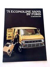 1971 Ford Econoline Van E100 E200 E300 Original Sales Brochure Catalog
