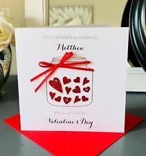 Personalised Valentines Card Jar full of Love Husband wife boyfriend girlfriend