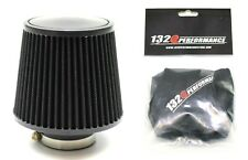 "1320 PERF FAB 4"" Universal air filter cone reusable black & Pre Filter"