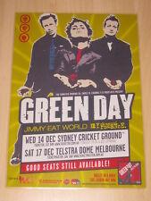 GREEN DAY - 2005 AUSTRALIAN TOUR -  LAMINATED PROMO TOUR POSTER