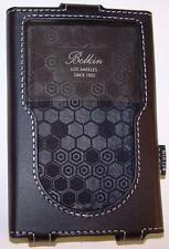BELKIN BLACK LEATHER ONE PIECE PROTECTICE SLEEVE-IPOD CLASSIC 5-7-NEW/RARE/OOP!!