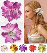 Orchidee als Haarclip Brosche Blüte Haarspange Haarschmuck Blume Hibiskus Hawaii