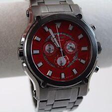 Renato Men's Calibre Robusto 50 Watch, Swiss Ronda 5040.D, Gun Metal, Red Dial