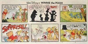 Winnie the Pooh by Walt Disney - lot of 24 color Sunday comic pages from 1979