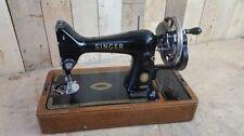 Retro Vintage 1956 Semi Industrial Singer 99K Sewing Machine - Hand Crank