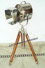HOLLYWOOD STYLE VINTAGE MOVIE SPOT LIGHT FLOOR STANDING TRIPOD STAND FOR  LAMP