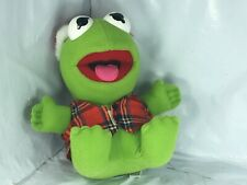 Vintage Kermit The Frog 1987 Jim Henson's Muppet Babies Doll Plush 8 inches Fs