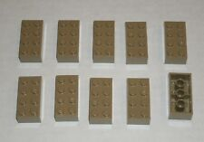 6038637 4505141 Brick 2450 10x LEGO NEW 3x3 Dark Tan Plate without Corner