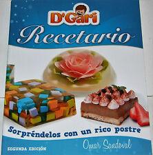 D'Gari Recetario Sorprendelos con un rico postre, Omar Sandoval,Libro Español