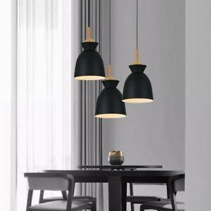 Kitchen Pendant Lighting Bar Black Lamp Wood Pendant Light Modern Ceiling Lights