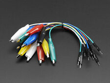 12x Alligator Clip to Male Jumper Wires Cable Breadboard Wearables prototyping