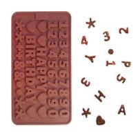 Alphabet Letter Number Silicone Candy Chocolate Cake Decorating Baking Mold Q