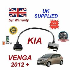 For KIA Venga iPhone 3 3gs 4 4S iPod USB & 3.5mm Aux Audio Cable MY 2012+