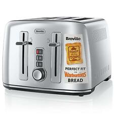 Breville VTT571 Perfect Fit Collektion 4 Scheiben Toaster Edelstahl 2000W