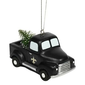 New Orleans Saints Truck with Tree - Christmas Tree Holiday Ornament - FREE SHIP