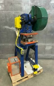 """10 Ton Rousselle Model 1A OBI Punch Press 1-1/4"""" Stroke Shut Height 7 Made in US"""