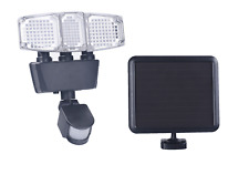 Triple Head 182 LED 1300 Lumens Solar Powered Motion Sensor Security Light