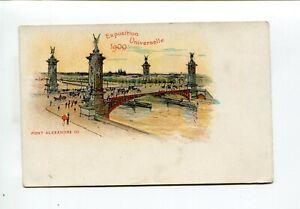 Exposition Paris 1900 postcard Pont Alexandre III