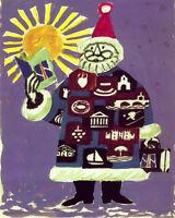 POSTER CHRISTMAS SANTA CLAUS LETTER TRAVEL POSTCARDS VINTAGE REPRO FREE S/H