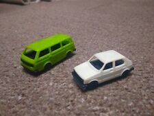 VW Bus & Golf LS - Made in W. Germany - Vintage plastic models HO scale