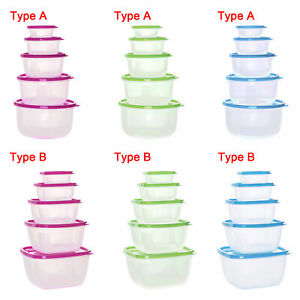 5Pcs Lunch Box Food Container Sealing Box Eco-Friendly Reusable Portable Kitchen