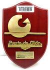 """Vintage Antique Wooden Plaque & Sign """"Puerto De Gijon"""" For Home Decor"""