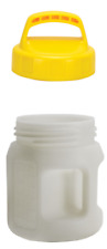 Oil Container Oil Safe Drum 1.5 Litre Oil Storage With Lid Yellow