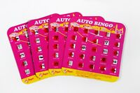 Regal Games Original Travel Bingo Pack of Four Pink Auto Bingo For Roadtrips