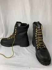 Georgia Men's G8010 Heritage Waterproof Black Leather Logger Work Boots 12M