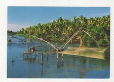 Chinese Fishing Nets Cherai Ernakulam India Postcard 037b