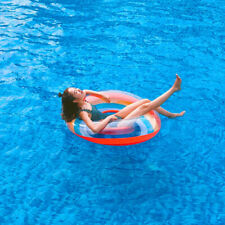 1PC Plastic Rainbow Swimming Ring Aid Float Ring for Swimming Adults Party