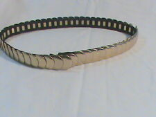 Retro Gold Tone Stretch Belt
