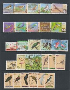 Bahamas - Small Collection of 28 Bird stamps - MNH