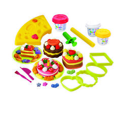 Playgo PLAY DOUGH CAKE SET (3 Colors of Play Dough Included) ~NEW~