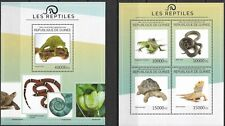 "GUINEE - 2014 MNH ""Nature - REPTILES"" Two Souvenir Sheets !!"