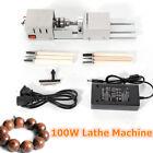 12-24V Woodworking Mini Lathe  DIY Beads Polisher Machine Fit Rotary Tool 100W