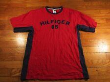 VTG Tommy Hilfiger 85 Embroidered Red Blue Color Block T Shirt XL M L