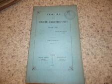 1892.Annuaire de la société philotechnique.Le Vavasseur Gustave.Roger-Milès