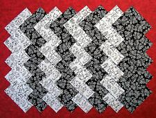 """BLACK & WHITE Cats and Flowers 4"""" Squares, 100% cotton Quilt Block Fabric #D/81A"""