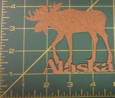 Acid Free Alaska Moose Laser Scrapbook Die Cut - We combine & Ship worldwide