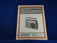 Superscope Model CR-1400 Service Manual