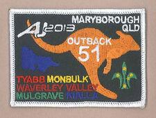 AJ2013 - AUSTRALIA SCOUT NATIONAL JAMBOREE - TROOP O51 SCOUTS BADGE